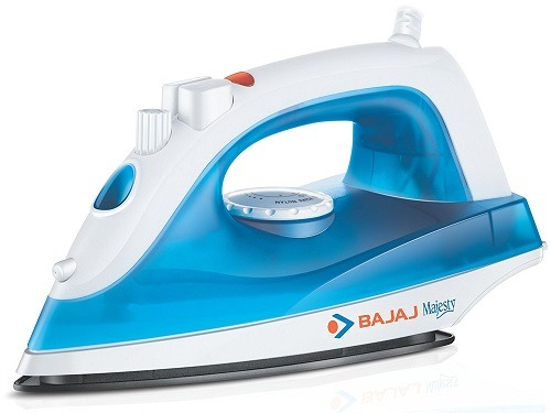Bajaj Majesty MX 20 1200-Watt Steam Iron (Blue and White) Side View
