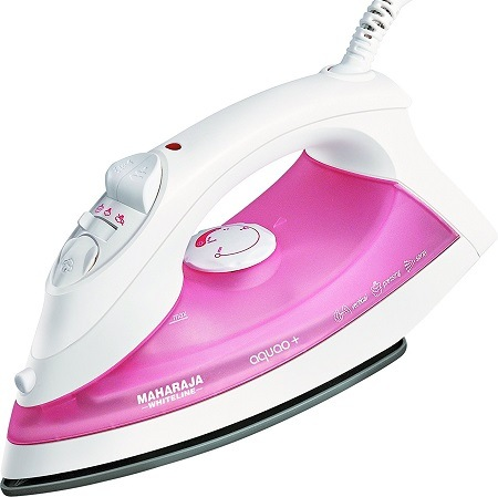 Maharaja Whiteline Aquao Plus 1300-Watt Steam Iron (Pink)