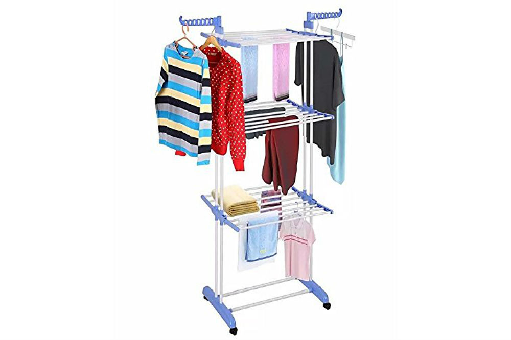 The Kumaka Full Size, Heavy Duty Double Pole Cloth Drying Stand, Laundry Rack Stand Review